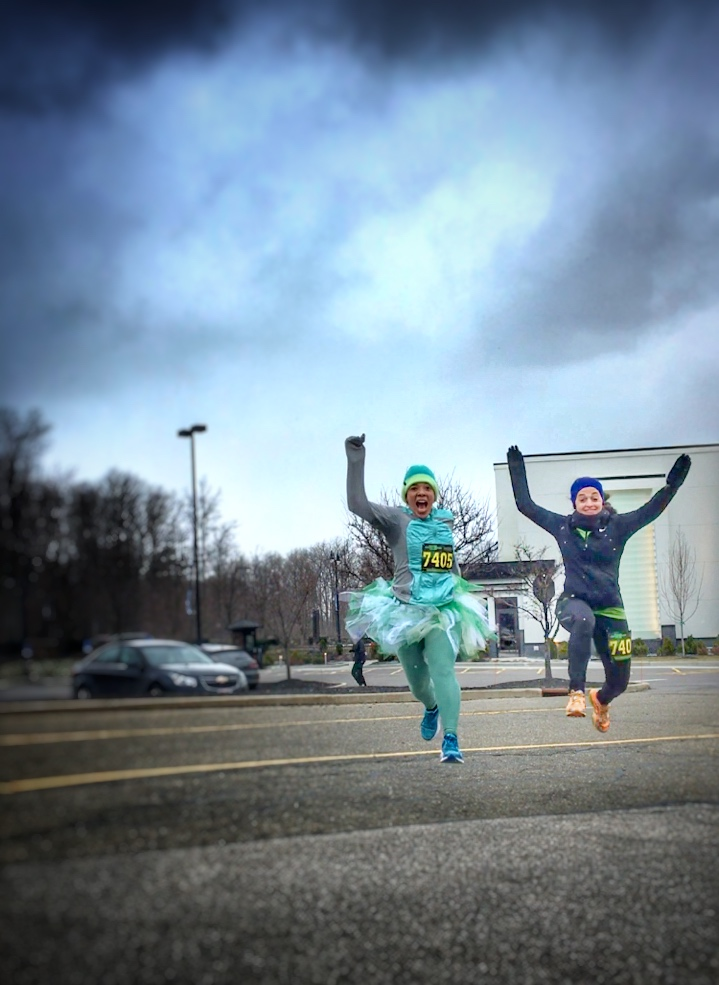 I had the luck of the Irish on Sunday at the Kiss Me I'm a Runner 10K with a nice, new PR! Read my review and recap here. -Running on Happy