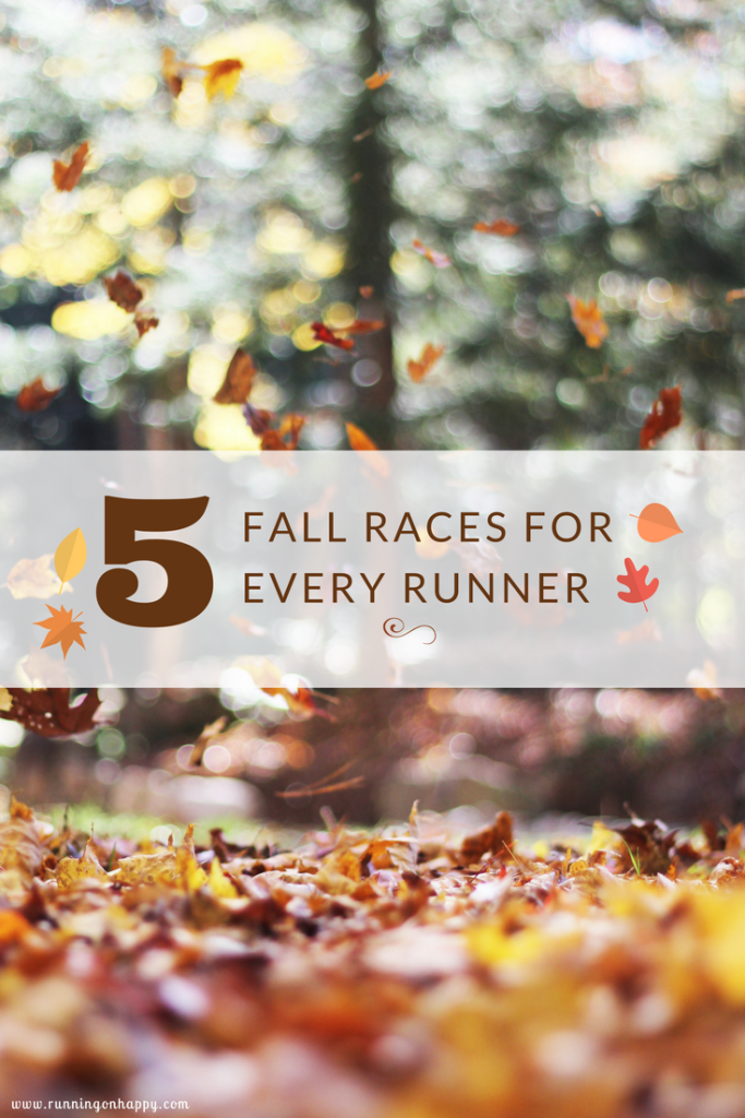 Love fall? Love running? Check out these 5 fall races for EVERY runner!!