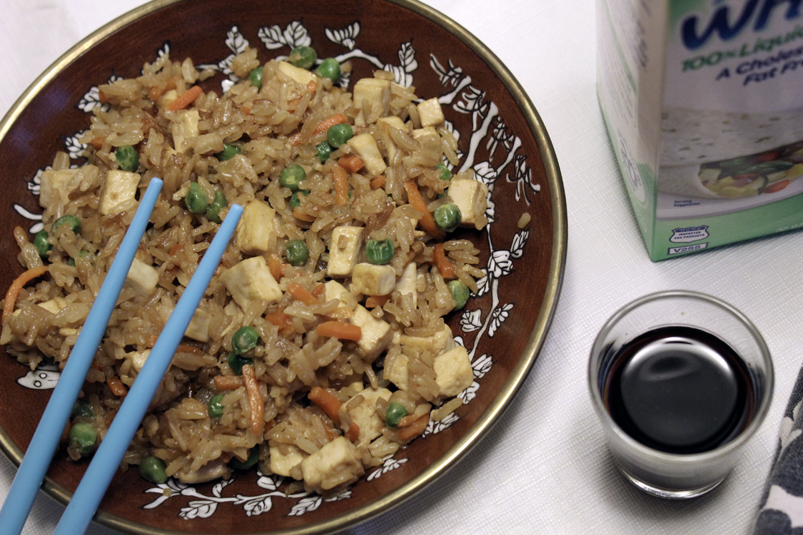 Healthified Tofu Fried Rice | Meatless Monday | Running on Happy