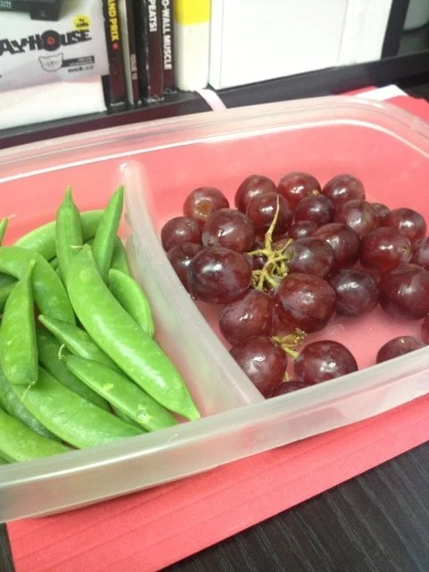 grapes and snap peas