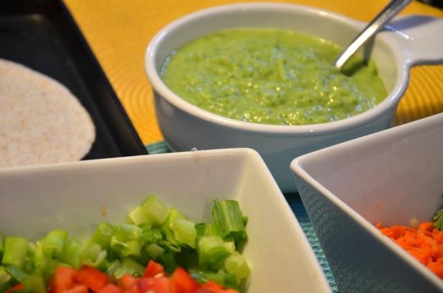 Vegan Tostadas with Tomatilla Sauce