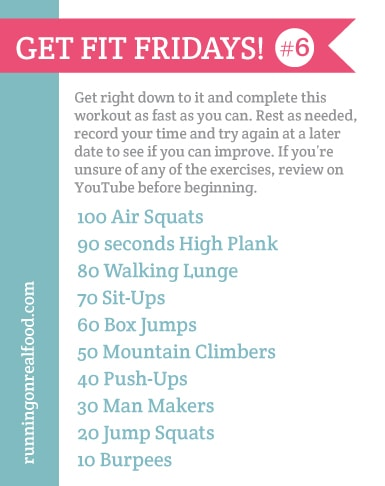 Get FIT Fridays #6   Metabolic Conditioning Workout from Running on Real Food