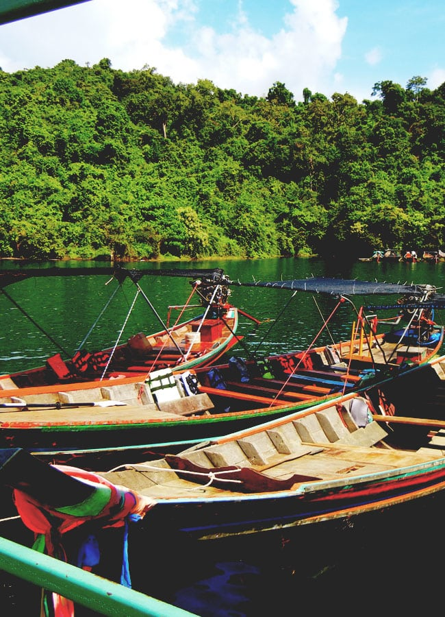 Long Tail Boats Chiew Lan Lake