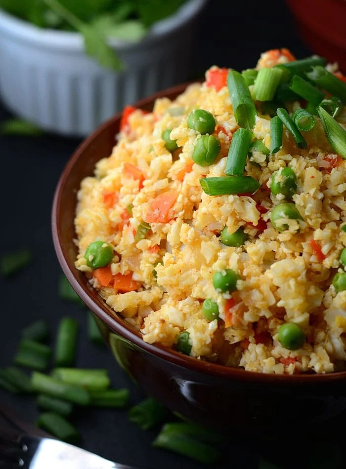 Thai Red Curry Cauliflower Rice - Low carb, low fat, gluten-free, healthy, quick and easy!