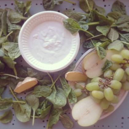 Spinazie met druif smoothie