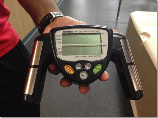 body fat hand held device