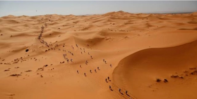 The never-ending Merzouga Dunes...