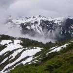 snowy spring mountains