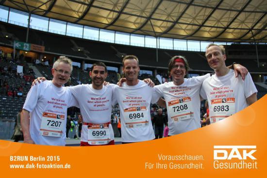 Vodafone B2Run Final 2015 team