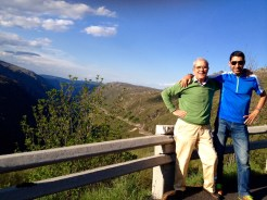 At Vale do Zêzere with dad