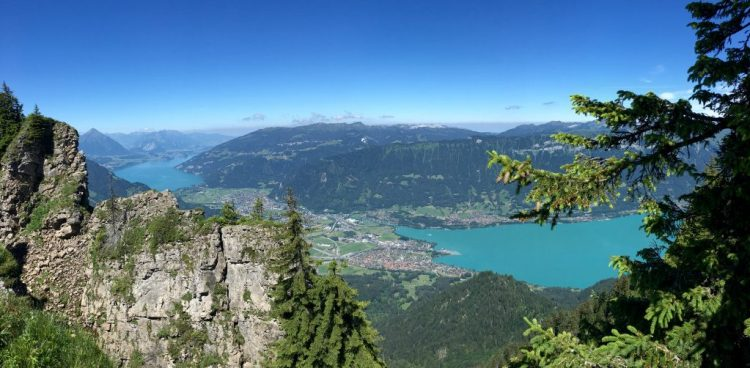 Interlaken viewed from Schynige Platte