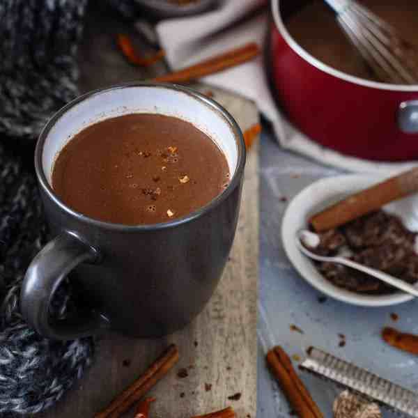 Mexican Hot Chocolate - Creamy Spicy Winter Treat