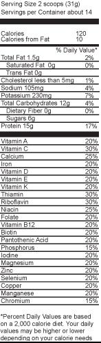 Vanilla Latte 15 31 oz Canister   CLICK Espresso Protein Drink