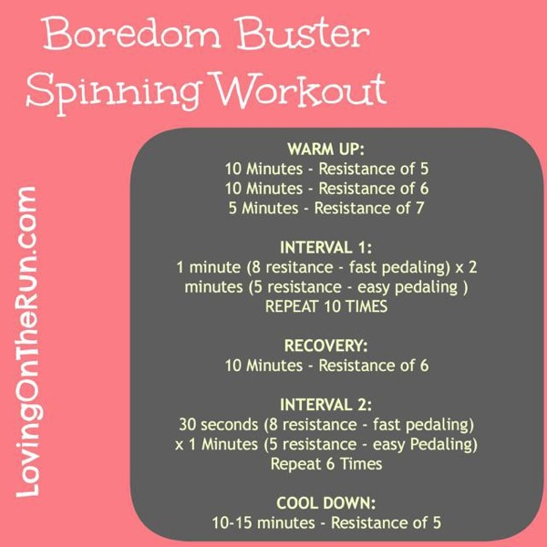 Boredom Buster Spinning Workout