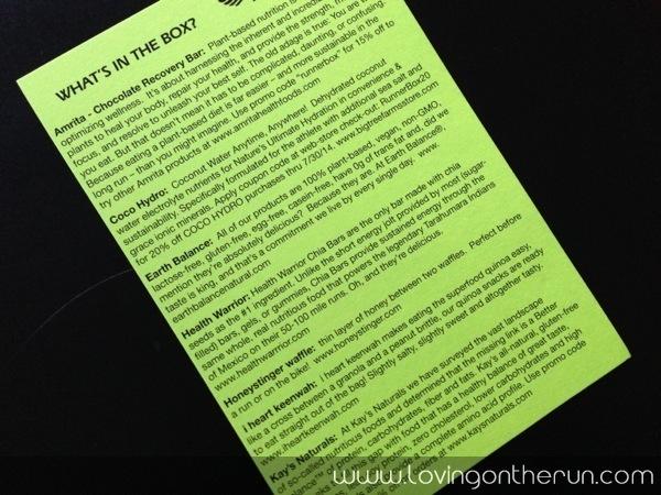Runner Box Item Description