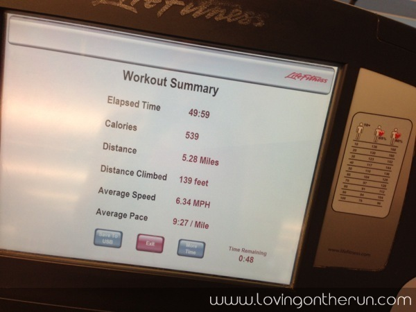 5 Miles on Treadmill