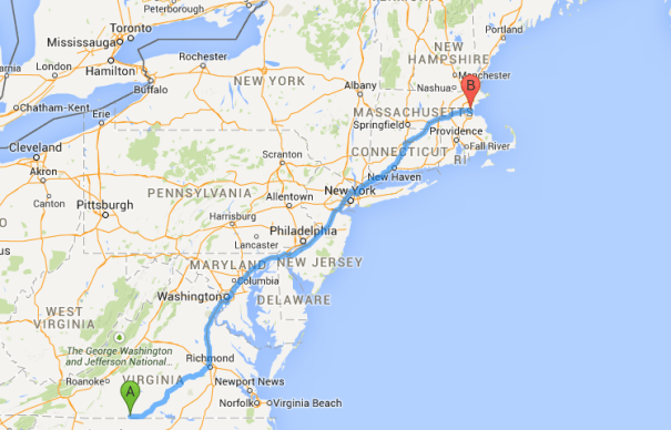 danville to boston