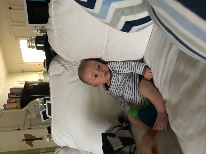 Easton on Couch