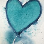 Watercolour painting - Blue Heart