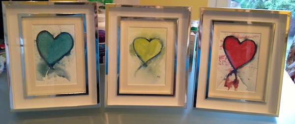 Watercolour paintings - Suzie's hearts