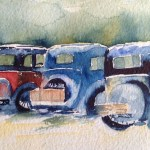 Watercolour Painting. A Blast from the Past by Judith Farnworth (JFA001)