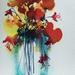 Watercolour painting. Fresh Flowers 3 (OQA001) Artist: Olivia Quintin