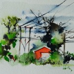 Watercolour painting. Electric Plant (OQA005) Artist: Olivia Quintin