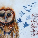 Watercolour painting. Wise Words (LBW007). Artist: Lorraine Brown