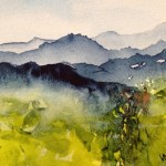 Watercolour painting. Ravine (RWB0062). Artist: Vandy Massey