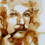 Watercolour painting. Smoking (SDR011). Artist: Sabine De Rode