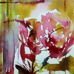Watercolour painting. Red Flowers 4 (VPM004) Artist: Veronique Piaser-Moyen