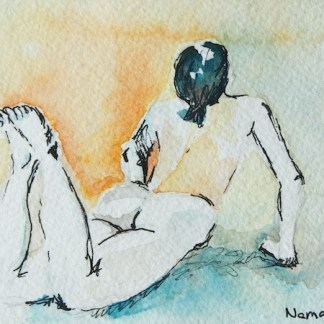 Watercolour painting. Namaste II (DMA008) Artist: Dana Mallon