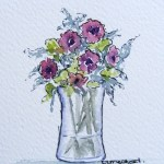 Watercolour painting. Summer Posy (IOA029). Artist: Ingrid Ormestad