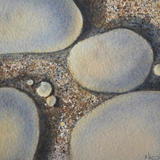 Watercolour painting. Pebbles (NBA002) Artist: Nicole Barros