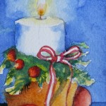 Watercolour Painting. Christmas Light (SDR016) Artist: Sabine De Rode