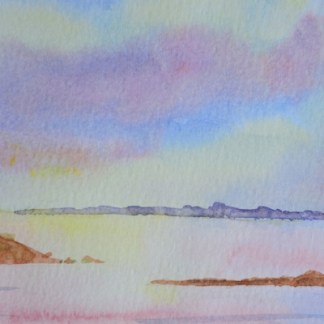 watercolour painting. SBA007 Still Water. Artist: Sue Bradley