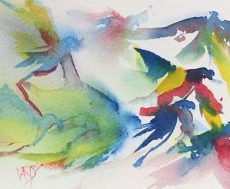 Watercolour painting. RWB0119 Flock Artist: Vandy Massey