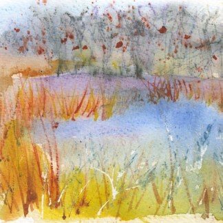 Watercolour painting. RWB0155 Winter Hedgerows. Artist: Vandy Massey