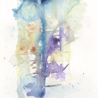 Watercolour painting. GSA001 Abstract 1. Artist: Guin Saunders