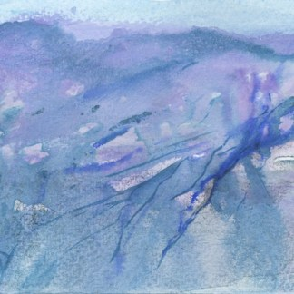 Watercolour painting. RWB0158 Glacier. Artist: Vandy Massey