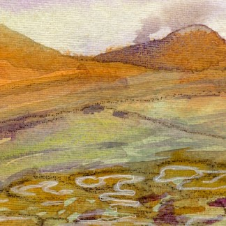 Watercolour painting. CMW004 Roseberry Topping. Artist: Clare Maria Wood