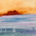 Watercolour painting. CMW006 Calm Waters. Artist: Clare Maria Wood