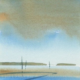 Watercolour painting. MLA012 Seascape 6 Artist: Maggie Latham