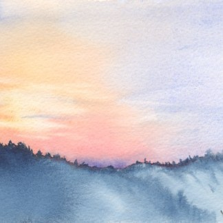 Watercolour painting. RWB0199 - Lakka Sky 5.