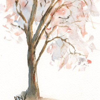 Watercolour painting. RWB0209 - Autumn Tree.