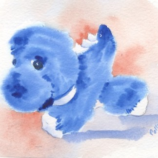 Watercolour painting. POB017 - Fierce Dragon Artist: Polly Birchall