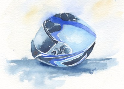 Watercolour painting. POB026 Let's Ride. Artist: Polly Birchall