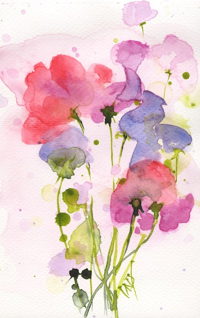 Watercolour painting. RWB0235 Scented. Artist: Vandy Massey