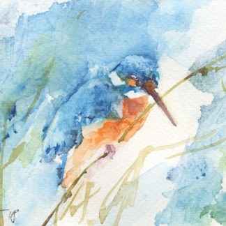 Watercolour painting. IKA005 Gone Fishing. Artist: Isabella Kramer