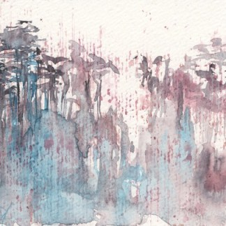 Watercolour painting. RWB0239 Rainforest Heights.